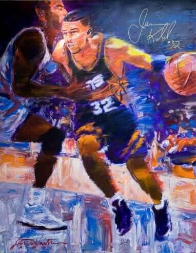 Jason Kidd by Stephen Voita Acrylic on canvas