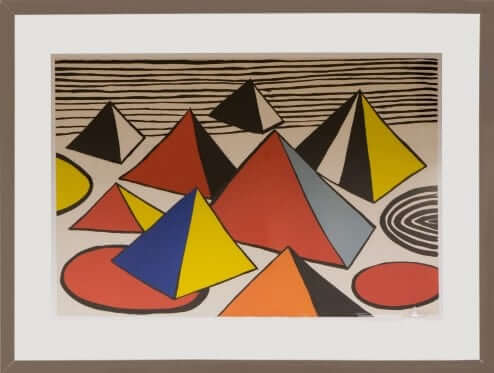 Mountains and Sea by Alexander Calder Lithograph