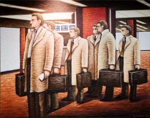 American Corporation 10 by Mike Faro Acrylic on Canvas Painting