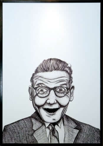 Surprise Self Portrait by Chad Knapp Pen and ink on Matte