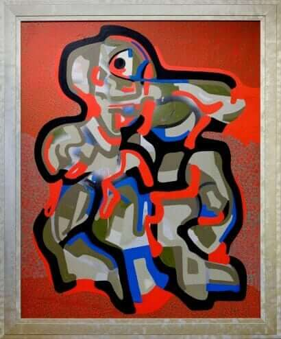 Davie Forever by Roberto Cleminte Acrylic and spray paint on canvas