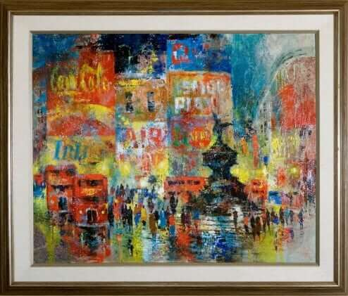 Piccadilly Circus by Jack Laycox Oil on Canvas