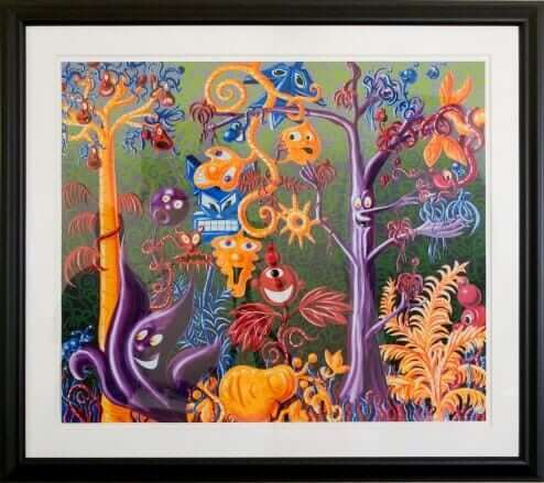 Juicy Jungle by Kenny Scharf Lithograph