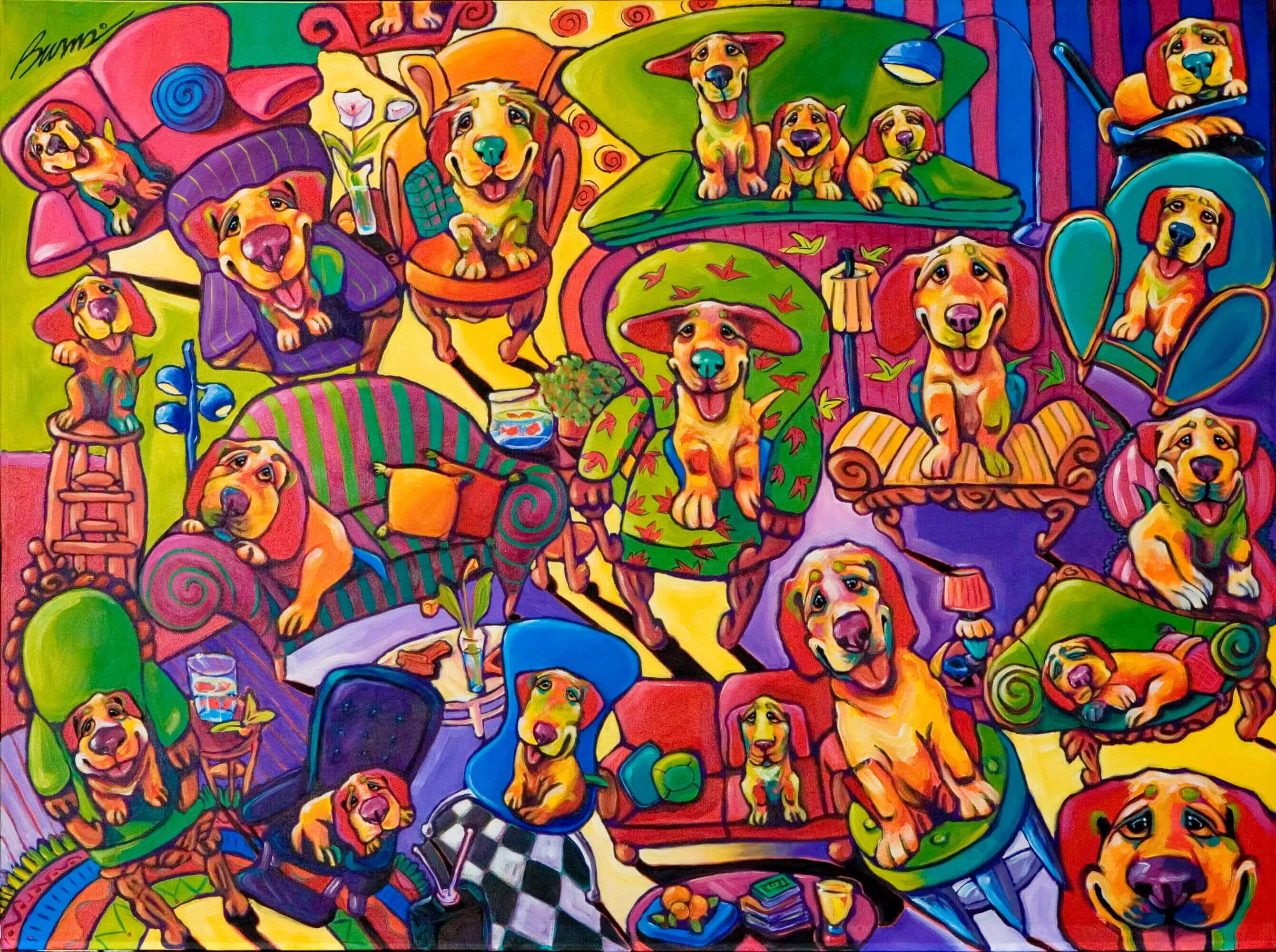 Couches, Chairs, and Canines by Ron Burns