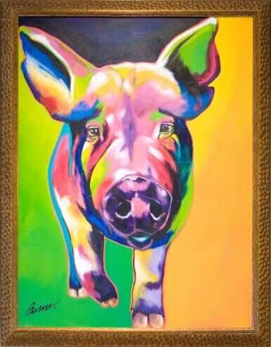 Edgar by Ron Burns Acrylic on canvas