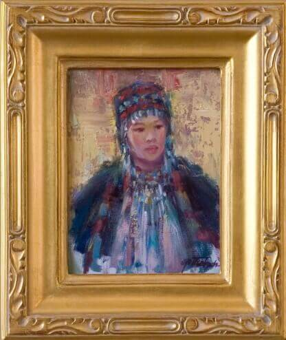Tibetan Beauty by Lynn Gertenbach Oil on Linen and Board